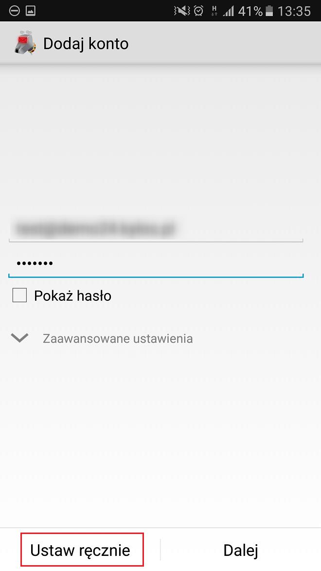 Konfiguracja aplikacji K9 (Android) - Baza wiedzy - Kylos pl